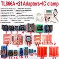 Original TL866A minipro programador Universal 21 adaptadores + IC clip ABRAZADERA TL866 AVR PIC Bios 51 MCU Flash EPROM programador