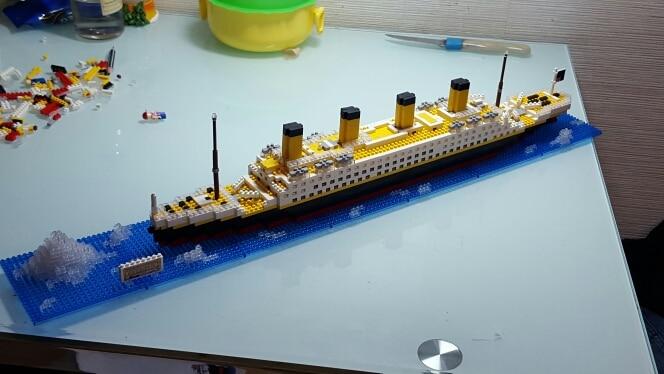 3D Lego Titanic Boat Ship Ship Building Blocks Blocks 194Pcs Free shipping