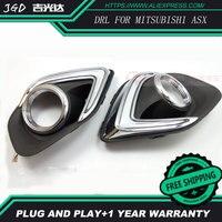 Free Shipping For Mitsubishi ASX 2013 2014 2015 Signal Function Relay Waterproof 12V Car LED DRL