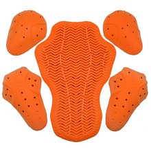 1 Set Motocross Motorcycle Jacket Insert Armors Protective Gear Back Pads Knee/Elbow Pads Shoulder Guard