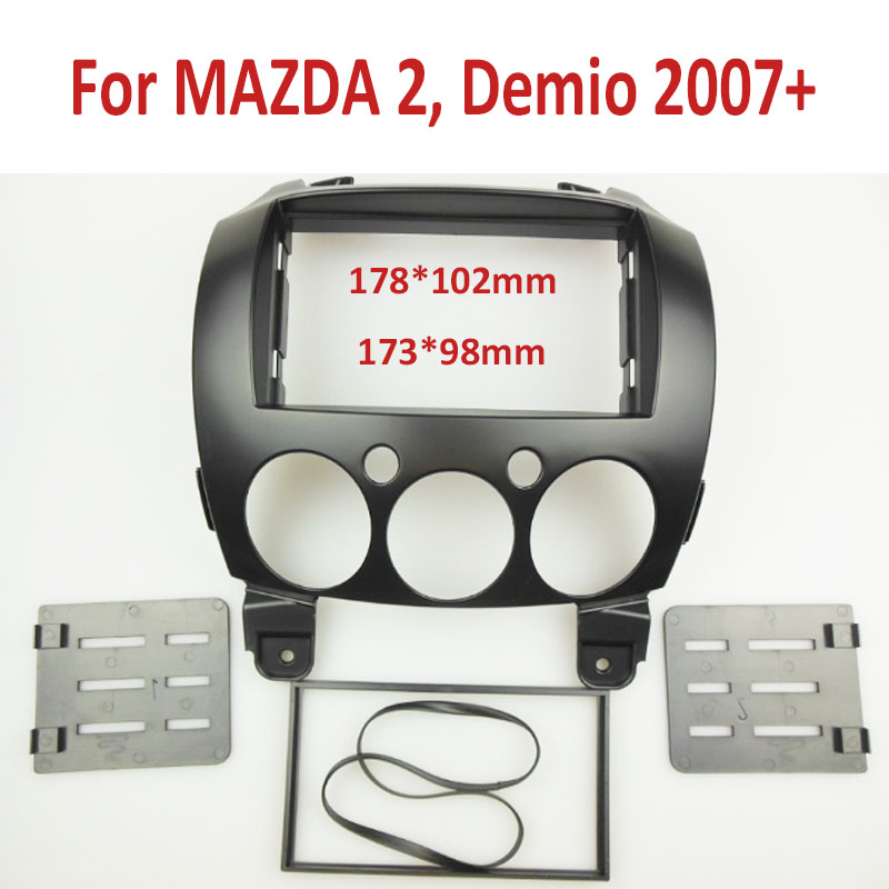 2 Din Panel de DVD Estéreo para MAZDA 2, Demio 2007 + Dash Fascia ...