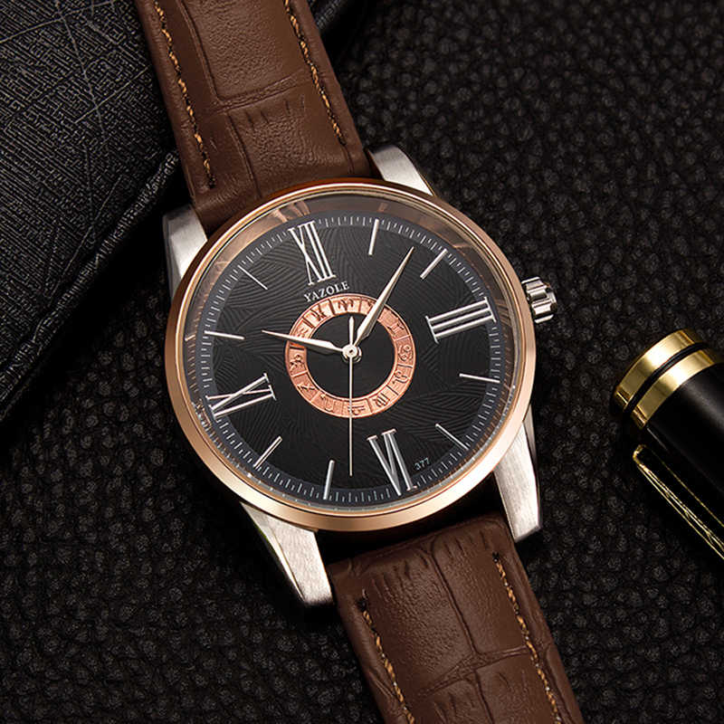 YAZOLE мужские часы лучший бренд класса люкс модные часы с созвездиями кожаные мужские часы водонепроницаемые часы kol saati relogio masculino