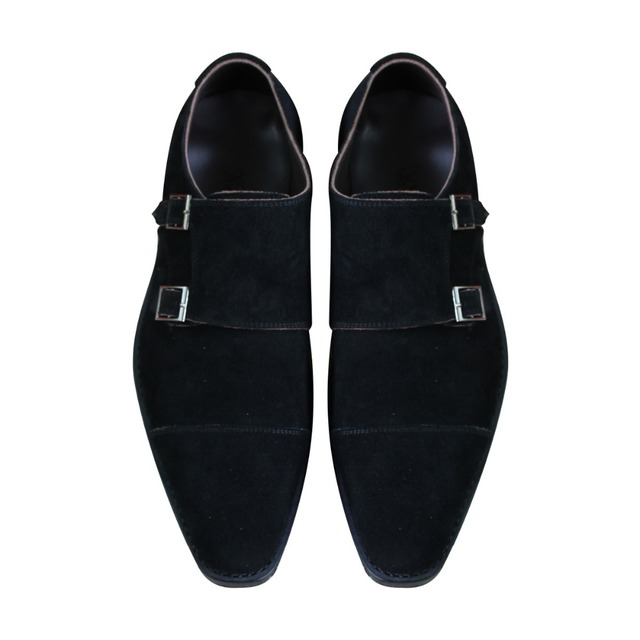 Custom Made Goodyear Genuine Leather Handmade Monk Strap Shoes