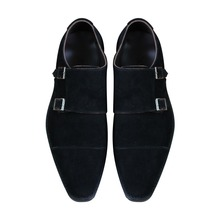Custom Made Goodyear Genuine Leather Handmade Monk strap Shoes, Men's Handcraft suede leather upper Dress Formal Shoes
