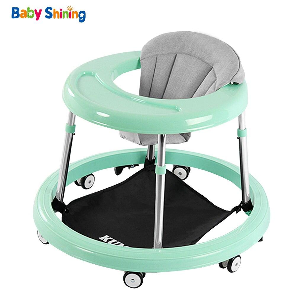 Bébé brillant bébé marcheur 6-18 M bambin voiture avec haute stabilité Balance vélo hauteur réglable multi-fonction marcheurs pour bébé