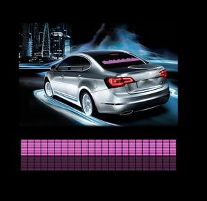 Image 3 - تصفيف السيارة 90*25 40*30 50*30 السيارات LED EL ورقة سيارة الموسيقى ملصق التعادل توهج فلاش مصباح لوح وامض