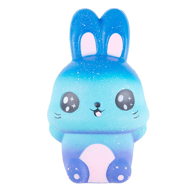 Jumbo Colorful Galaxy Cute Rabbit Squishy Creative Slow Rising Bread Scented Soft Squeeze Toy Stress Relief Fun for Kid Gift ToyStress Relief Toy