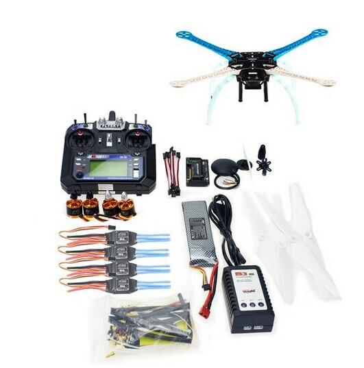 500mm Multi-Rotor Air Frame Full Kit S500-PCB DIY GPS Drone APM2.8 Flysky 2.4G FS-i6 Transmitter Motor ESC F08191-F 500mm multi rotor air frame kit s500 w landing gear esc motor kk xcopter v2 9 board rx