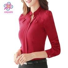 2017 блузка с рюшами Рубашки женские блузки Плюс Размеры женская одежда три цвета рубашка для отдыха приоритет новые скидки низкая цена