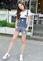 Новинка модные джинсовые шорты летние женские с ремнями в виде женского комбинезона