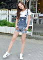 New fashion denim shorts summer women's belts in the form of women's suit