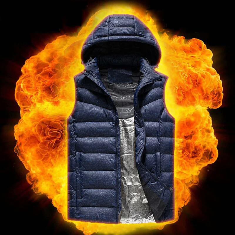 USB Charging Heated Vest Heating Thermal Winter Intelligent Temperature Control Heating Waistcoat Men Safety Working Clothes