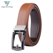 Mens High Quality Genuine Leather Belt-Ratchet Automatic Buckle Men Belt Popular Business Brown Male Belts Luxury Free Shipping 2019 mens fashion designer popular belt leather casual luxury business male belts automatic buckle men black brown belt