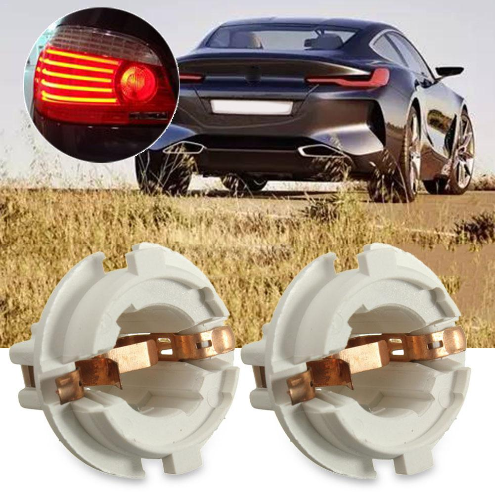 2PCS Rear Tail Light Lamp Bulb Socket Holder For BMW 7 Series X5 E53 E70 E65 X3 E83