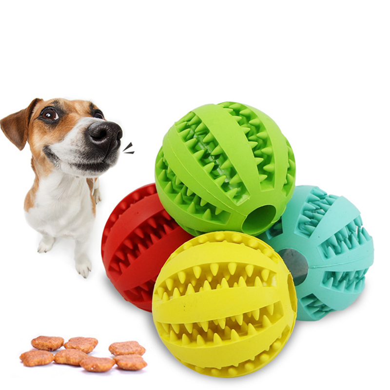 Yvyoo 5/7cm Pet Dog Toys Extra-tough Rubber Ball Toy  Interactive Elasticity Ball Dog Chew Toys For Dog Tooth Cleaning Ball D13