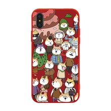 Cute Cartoon Dog City Colored Drawing Soft TPU Case For iPhone XS XR MAX X 6 6S 7 8 Plus