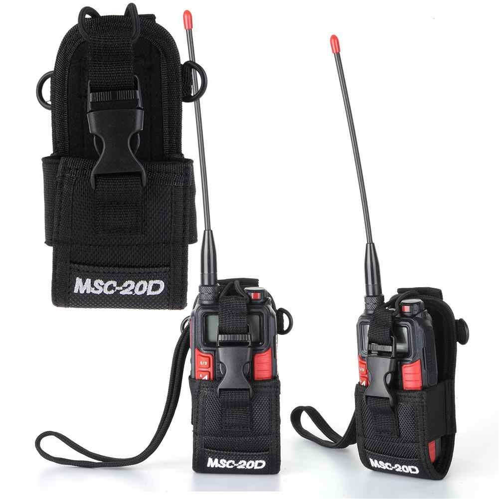 Funda Universal de nailon para interfono de alta calidad MSC-20D funda de Walkie Talkie