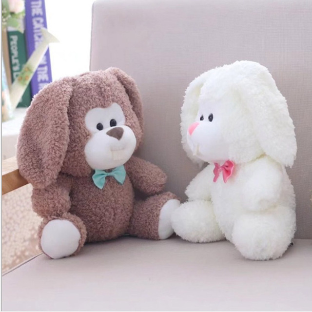 25cm Baby Kids Big Tooth Rabbit Plush Toys White Bunny Doll Cute