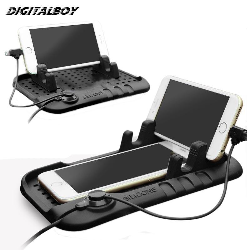 Digitalboy Universal Mobile <font><b>Phone</b></font> <font><b>Car</b></font> <font><b>Phone</b></font> <font><b>Holder</b></font> Adjustable Bracket Connector Magnetic <font><b>Charging</b></font> Mount For iPhone 5s 6 Samsung