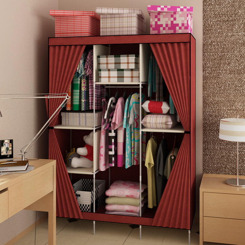 Large Capacity Cabinet Product Family Can Be Simple Dust Cloth Wardrobe  Closet For Hanging Clothes Storage