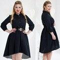 Плюс Размер 6XL Женщины Осень Dress Shirt Vestidos Мода Элегантные Женщины Дамы С Длинным Рукавом Нерегулярные Блузка Девочек Dress P30