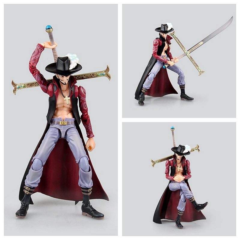 Anime One Piece Variant Dracule Mihawk  Variable Dracule Mihawk PVC Action Figure Collectible Model Toy 20cm KT2378 prettyangel genuine megahouse variable action heroes one piece dracule mihawk action figure