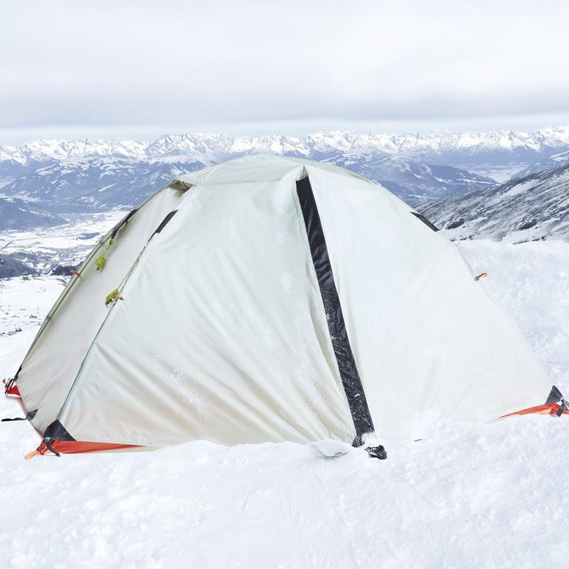Hewolf 1595 Double personne deux couches ultra-léger aluminium pôles imperméable coupe-vent Camping tente plage tente Barraca