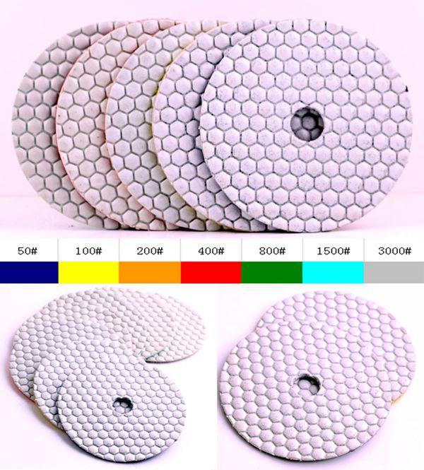 DC-AWHPP03 5 colių 125 mm deimantų sauso poliravimo pagalvėlės - Elektriniai įrankiai - Nuotrauka 2