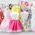 2016 New Beautiful Handmade Party Clothes Fashion Dress for Noble Barbieing Doll Mixed style 10 Doll Dress gt112
