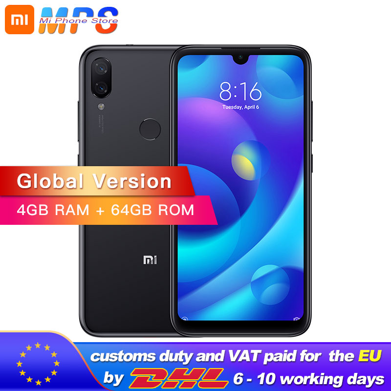 Global Version Xiaomi Mi Play 4GB 64GB Telephone MTK Helio P35 Octa Core Dual 12MP 2MP