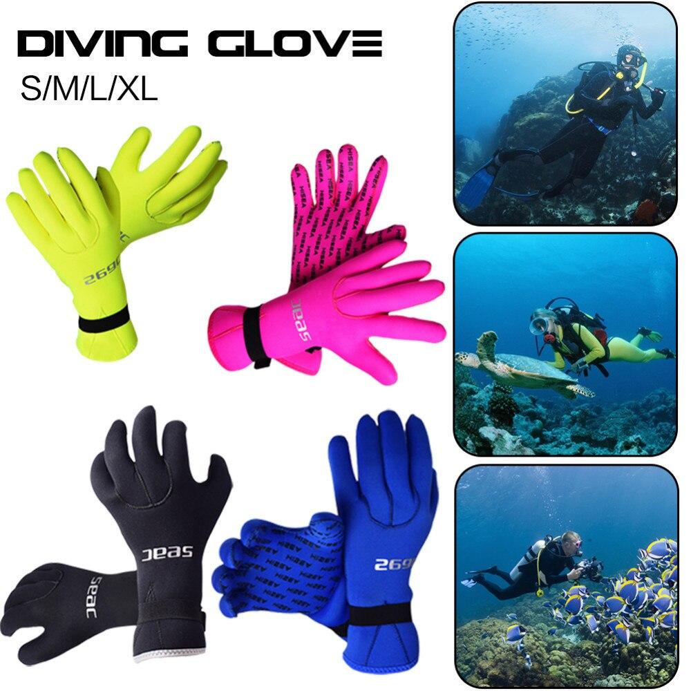 Теплые Дайвинг перчатки противоскользящие царапинам Виндсерфинг Серфинг подводной охоты подводное плавание хождение перчатки для Для муж...