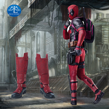 MANLUYUNXIAO New Arrival Mens  Deadpool 2 Cosplay Boots Halloween Carnival And Leg Guards