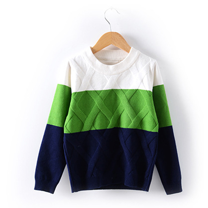 2017 New Boys Patchwork Sweater Autumn Clothing Toddler Boy Knitted Sweater Kids Thick Warm Winter Cotton Outerwear XL608 все цены