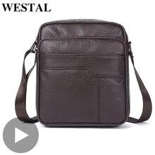 Westal Genuine Leather Office Shoulder Messenger Women Men Bag Briefcase For Male Female Work Business Small Portable Handbag недорого