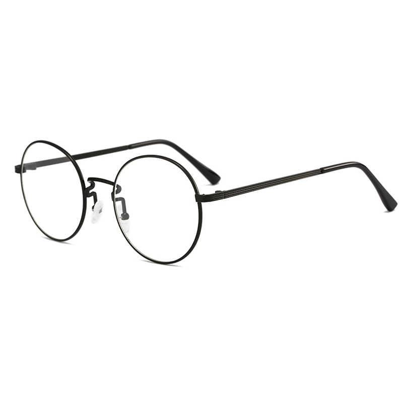 066d8d0e583 2018 Fashion Computer Glasses Frame Women Men Anti-blue Radiation  Protection Flat Mirror round metal