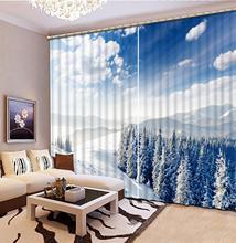 Customized size Luxury Blackout 3D Window Curtains For Living Room snow curtains Blackout curtain morden bookself 3d curtains luxury blackout curtain 3d window curtains for living room bedroom customized size