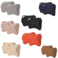 2pcs Car Safety Seat Support Pillows 3D Memory Foam Neck Headrest Cushion for Mercedes Benz BMW Subaru Hyundai Car Accessories