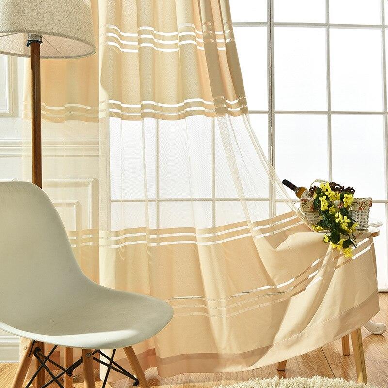 [byetee] Tulle Kuhinja Organza Voile Luksuzne zavjese za dnevnu sobu - Tekstil za kućanstvo