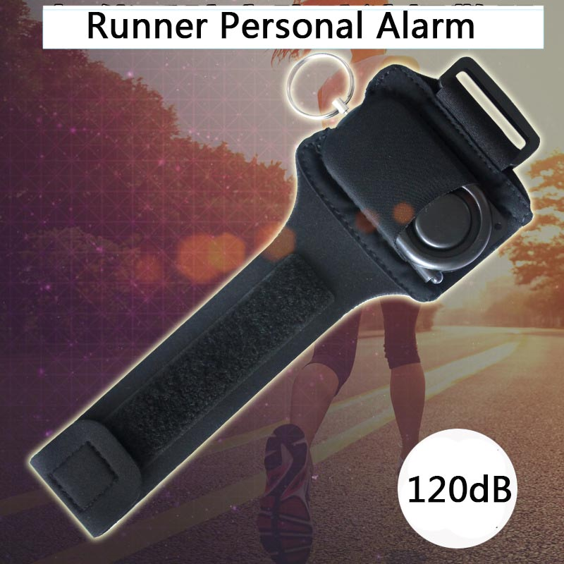 KopiLova Runner Personal font b Alarm b font 120dB Self Defense Portable Key Ring Wrist font