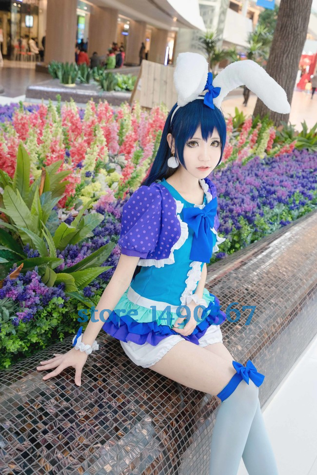 Love Live! Sonoda Umi Animal ver Cute Bunny Cosplay Costume Halloween costume for women