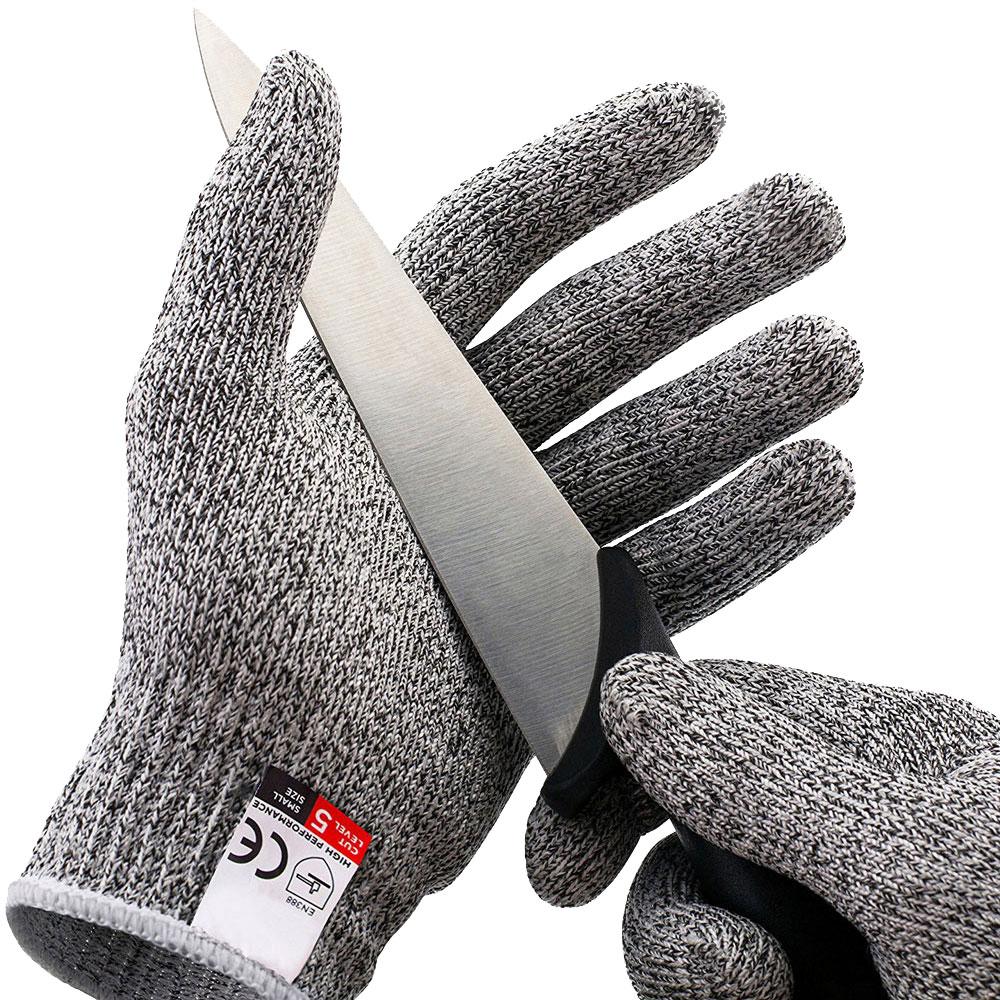 1Pair Kitchen Gadget Cut Resistant Gloves Anti Cutting