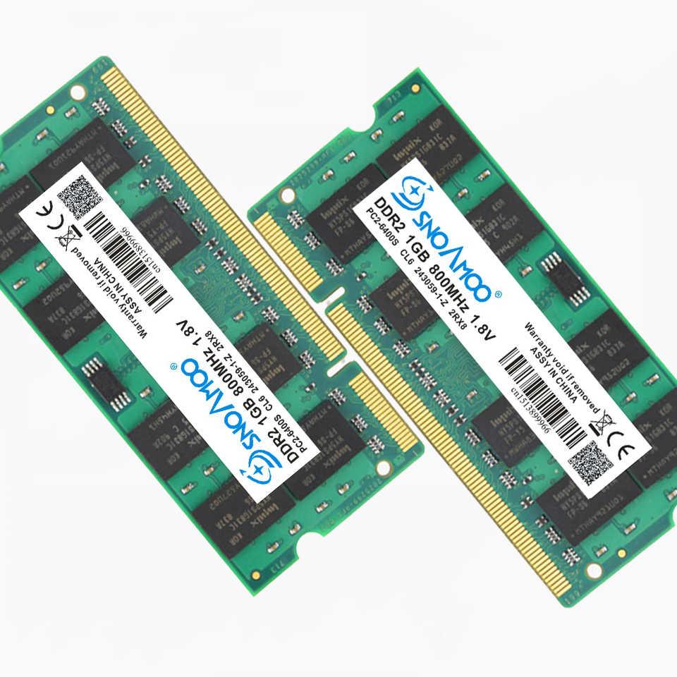 سنوامو ذاكرة لابتوب DDR2 1GB 667MHz PC2-5300S 800MHz PC2-6400S 200Pin دفتر DDR2 1GB CL5 1.8V DIMM RAM ضمان مدى الحياة
