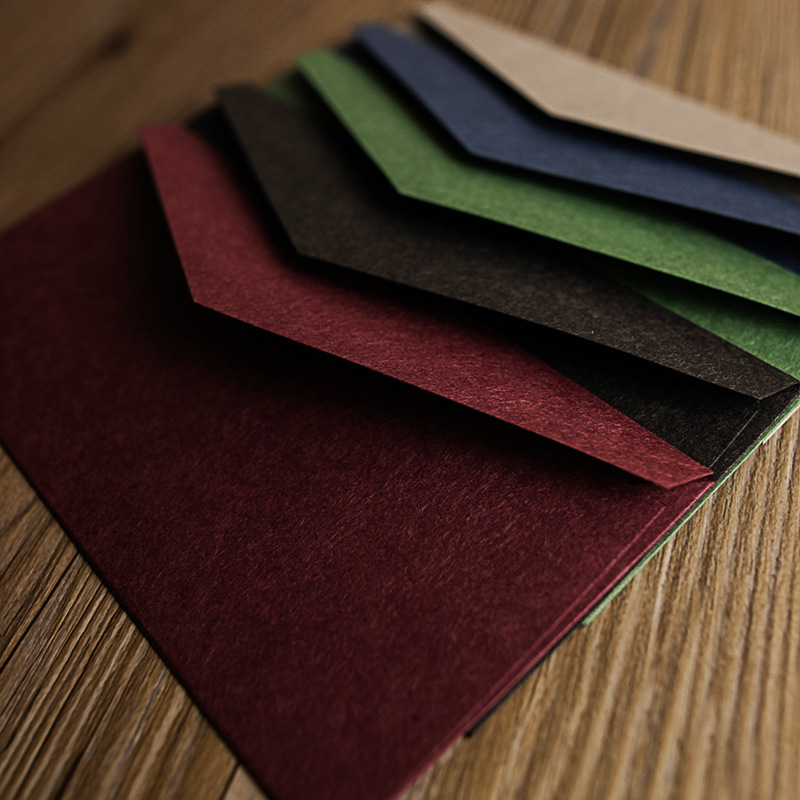Paper Envelopes Friendly 5 Pcs/lot Vintage Kraft Paper Envelopes Red Black European Style Envelope For Business Card Invitation Factories And Mines Office & School Supplies
