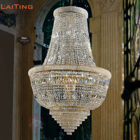 Traditional Gold Empire Crystal Chandelier with Chinese Crystal for Church Aisle or Villa Guaranteed 100%