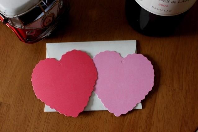 Papier coeur 10 cm 4 couleurs papier Kraft blanc marqué carte vierge étiquettes étirées à la main carte signet Invitation de mariage, 500 pièces