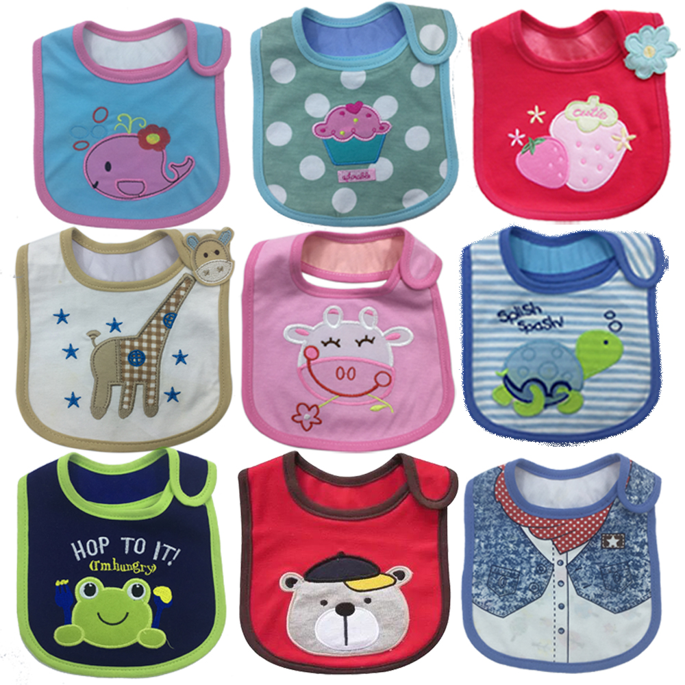 Newborn Toddler Baby Girls Boys Bibs Waterproof Bavoir Bandana Infant Bib & Burp Cloths 1 Pieces