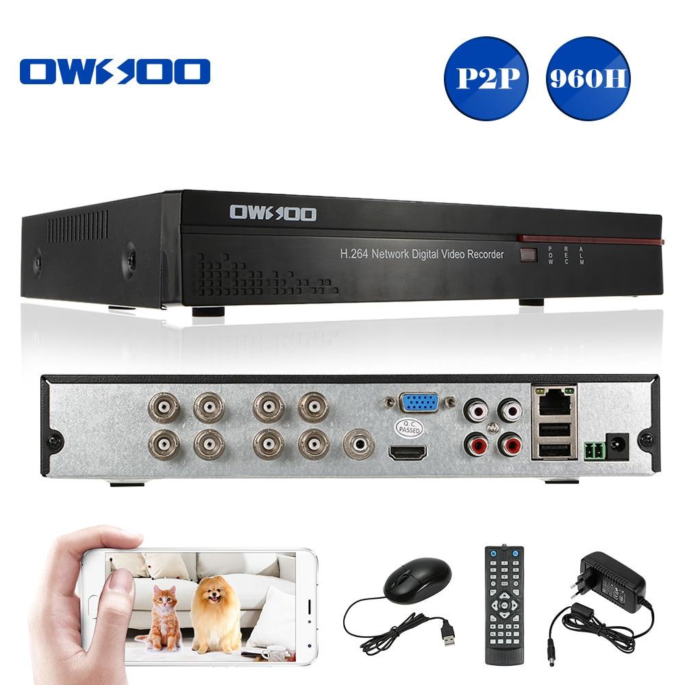 OWSOO 8 Channel DVR Digital Video Recorder 960H D1 H 264