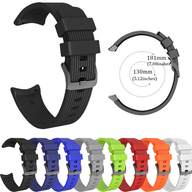 20MM Watch Strap S/L Replacement Sports Silicagel Soft Watch Band Strap For Sams