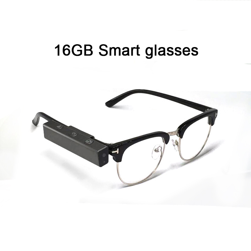 Live Streaming Videos /& Photos from Glasses to Mobile Phone by App with Ultra Full HD Camera and Blue Light Blocking and Transitional Healthy Lens 128GB WiFi Safety Glasses