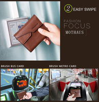 Promotion Casual Wallets For Men New Design Genuine Leather Top Purse Men Wallet With Bus Metro